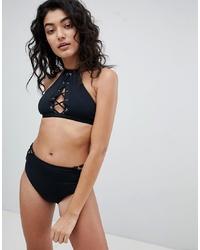 Top de bikini noir Bershka