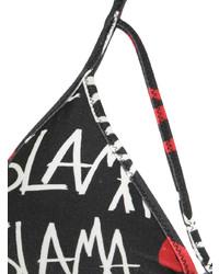 Top de bikini noir Amir Slama