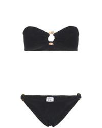 Top de bikini noir Hunza G
