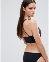 Top de bikini noir Missguided