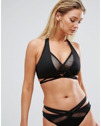 Top de bikini résille noir Asos