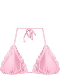 Top de bikini rose