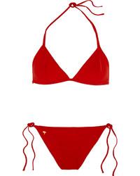 Top de bikini rouge Tomas Maier