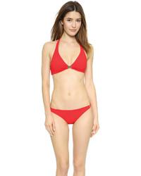 Top de bikini rouge Tory Burch