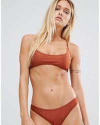 Top de bikini tabac Missguided