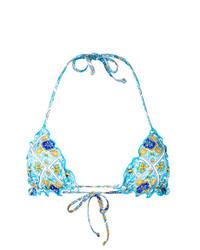 Top de bikini turquoise MC2 Saint Barth
