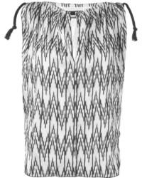 Top sans manches à motif zigzag noir et blanc Isabel Marant