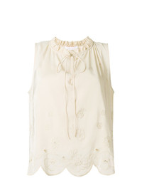 Top sans manches beige See by Chloe