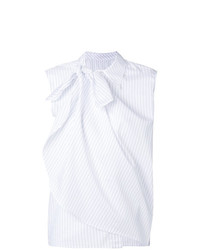 Top sans manches blanc MM6 MAISON MARGIELA