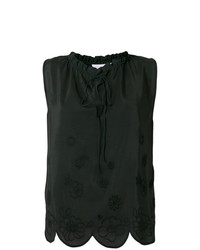 Top sans manches brodé noir See by Chloe
