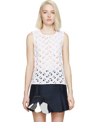 Top sans manches en broderie anglaise blanc Kenzo