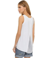 Top sans manches en chiffon blanc Bailey 44