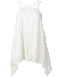 Top sans manches en crochet blanc Alice + Olivia