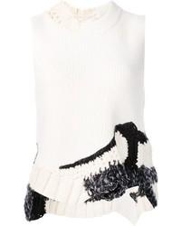 Top sans manches en laine en tricot blanc 3.1 Phillip Lim
