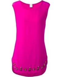 Top sans manches fuchsia