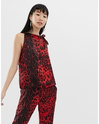 Top sans manches imprimé léopard rouge B.young