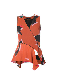 Top sans manches imprimé orange Proenza Schouler