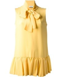Top sans manches jaune Moschino