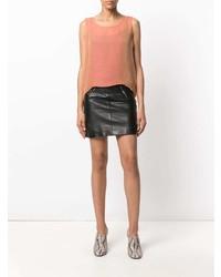 Top sans manches orange Yves Saint Laurent Vintage