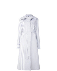 Trench à rayures verticales gris Jil Sander