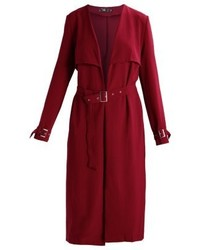 Trench bordeaux Missguided