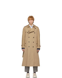 Trench brodé marron clair Gucci
