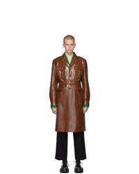 Trench en cuir marron Prada