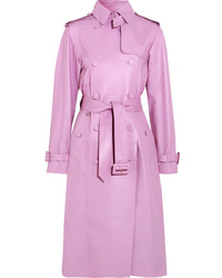 Trench en cuir rose Valentino