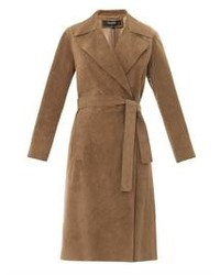 Trench en daim marron