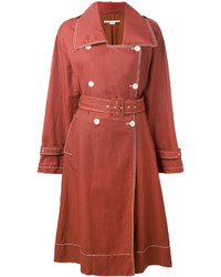 Trench en lin rouge Stella McCartney