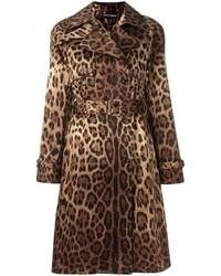 Trench imprimé léopard marron Dolce & Gabbana