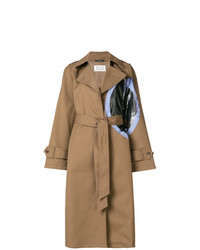 Trench imprimé marron clair Maison Margiela