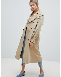 Trench marron clair New Look