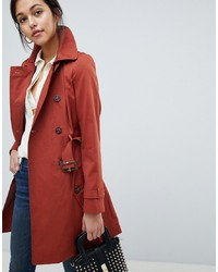 Trench rouge ASOS DESIGN
