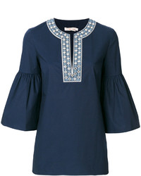 Tunique bleue marine Tory Burch