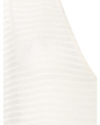 Tunique de plage à rayures horizontales blanche Su