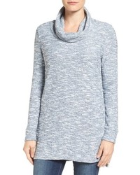 Tunique en tricot bleu clair