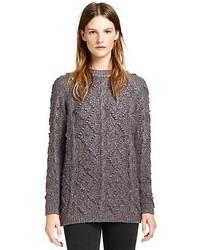 Tunique en tricot gris foncé