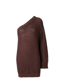 Tunique en tricot marron foncé Stella McCartney