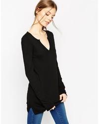 Tunique en tricot noire Asos