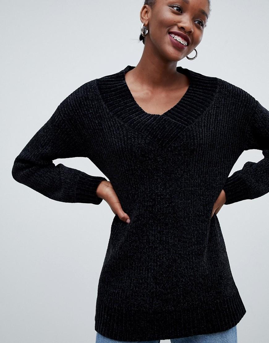 Tunique en tricot noire Urban Bliss