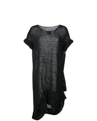 Tunique en tricot noire Yohji Yamamoto