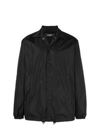 Veste à col et boutons noire