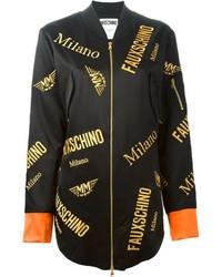 Veste brodée noire Moschino