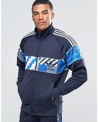 Veste camouflage bleu marine adidas