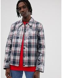 Veste-chemise à carreaux bleu marine ASOS DESIGN