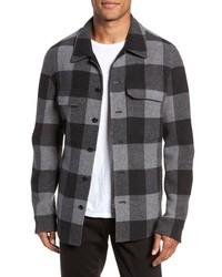 Veste-chemise à carreaux grise