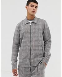 Veste-chemise à carreaux grise Jack & Jones