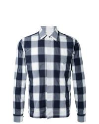 Veste-chemise à carreaux grise Kent & Curwen