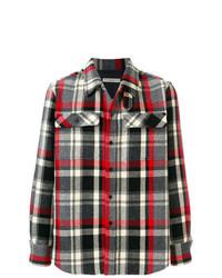 Veste-chemise à carreaux multicolore